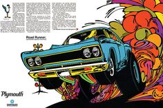 1968 Plymouth Road Runner ad poster