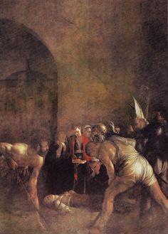 Caravaggio - Il Seppellimento di S. Lucia. Syracuse, Chiesa di Santa Lucia.