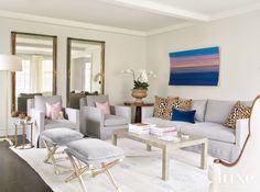 28 Rooms with Pretty Throw Pillows | LuxeDaily - Design Insight from the Editors of Luxe Interiors + Design