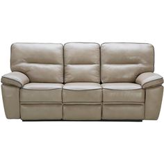Bronson Taupe Leather Match Dual Reclining Sofa