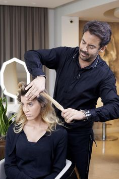 1. Making rolls Femme Fatale hair by Panos Kallitsis