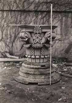 Detail of Column from Cupola, Old Stone Capitol Building - A. D. White Architectural Photographs, Cornell University Library