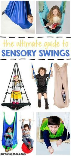 The Ultimate Guide to Sensory Swings-Sensory swings are a great way to provide children with vestibular input. This guide provides details on what types of swings are best suited for their sensory needs. Sensory Motor, Autism Sensory, Sensory Diet, Sensory Issues, Autism Activities, Sensory Activities, Sensory Play, Proprioceptive Activities, Baby Sensory