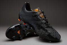 adidas Football Boots - adidas Predator LZ TRX FG - Firm Ground - Soccer Cleats - Black-Black-Solar Zest - Size UK 12