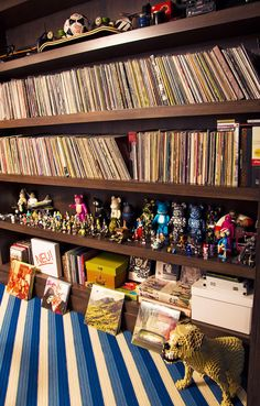 Record collection of the husband of Lauren Santo Domingo (from Vogue).
