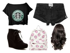 """After school activities? Starbucks."" by themasterwolf ❤ liked on Polyvore"