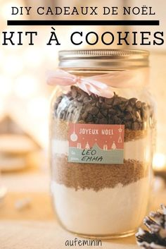 DIY cadeaux de Noël : le kit à cookies pour un noel gourmand. //// Best Picture For geschenke For Your Taste You are looking for something, and it is going to tell you exactly what you are looking for, and you didn't find that picture. Kit Cookies, Cookies Et Biscuits, Christmas Design, Christmas Diy, Xmas, Diy Cadeau Noel, Gourmet Gifts, Homemade Christmas Gifts, Jar Gifts