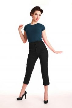 Rock Steady Clothing - 50s High Waist Swallow cutttte