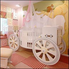 I like this crib.. Another idea for a baby room:-)