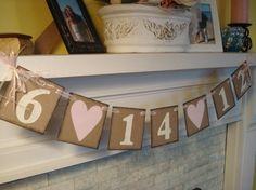 Wedding Date Bridal Shower Decorations
