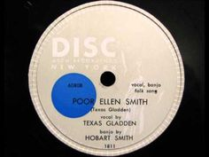 POOR ELLEN SMITH by Texas Gladden with her brother Hobart Smith banjo - YouTube