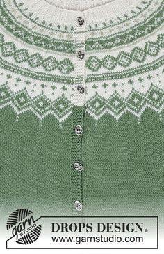 Ravelry: Perle du Nord Jacket pattern by DROPS design Knitting Patterns Free Dog, Knitting Paterns, Free Knitting, Baby Knitting, Free Pattern, Knitting Projects, Knit Patterns, Knitting Sweaters, Motif Fair Isle
