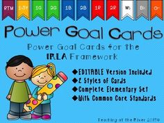 IRLA Power Goal Cards Elementary Bundle w/... by Teaching at the River | Teachers Pay Teachers