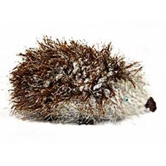 Adorable knitted hedgehog project! Lion Brand Fun Fur Wool-Ease Thick & Quick William the Hedgehog