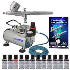 Amazon.com - MASTER Cake Decorating Airbrush Kit with 12 Food Color Set With Airbrush Depot 1 Year Warranty Tankless Compressor and 6 Foot Air Hose Set