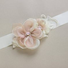 Bridal Wedding belt Blush Wedding belt Flower wedding belt