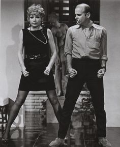 """Fosse rehearsing Shirley MacLaine for the film """"Sweet Charity"""" (1969), courtesy of the Dance Magazine Archives"""