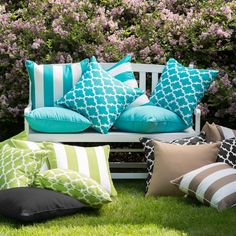 Coral Coast Lakeside 20 x 20 in. Outdoor Throw Pillows - Set of 2 - TRENDM015-1-AFS017-BLACK