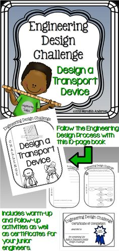 Follow the Engineering Design Process with this introductory engineering design challenge! (STEM) Grades 2-6
