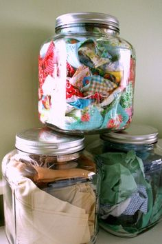 fabric scrap storage by :: a happy nest ::, via Flickr