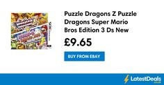 Puzzle Dragons Z Puzzle Dragons Super Mario Bros Edition 3 Ds New, £9.65 at ebay