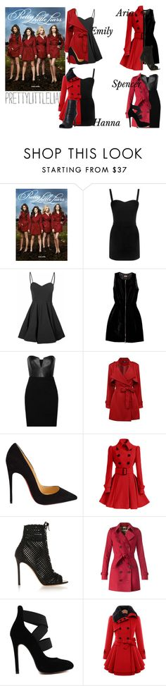 """""""PLL Outfit #8"""" by roobear0822 ❤ liked on Polyvore featuring Alexander McQueen, Glamorous, Alaïa, Mason by Michelle Mason, Christian Louboutin, Gianvito Rossi, Burberry, Pierre Balmain and pll"""