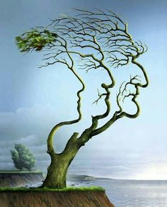 Wieslaw Smetek, 1955 Conceptual Illustrator is part of Optical illusions art Wieslaw Smetek is one of the illustrators whose work is most often to be seen on the covers of Zeit, Stern and Spiegel - Image Illusion, Illusion Pictures, Illusion Art, Optical Illusion Paintings, Optical Illusions, Illusion Kunst, Weird Trees, Unique Trees, Ouvrages D'art