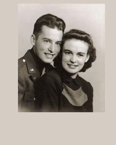 Cousin Frank and Ruth Fair 1942. He was an Army Air Force pilot flying in Europe during the war.