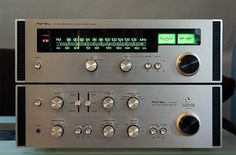 Rotel RA-1210 / RT-622. Integrated amp and tuner. Same vintage as my RX-802 receiver which I still have and love today. Rotel has always represented great sound at a fair price. Excellent value.