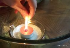 All Things Beautiful: What Combustion Needs - Putting out a candle with carbon dioxide