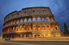 El Coliseo de Roma, en Italia.