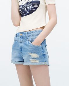 Image 5 of SHORTS WITH FRONT YOKE from Zara