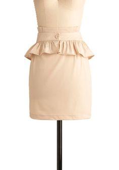 Cute Peplum skirt!