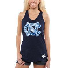 b253853a859fc North Carolina Tar Heels Women s Knowledge Racerback Tank Top - Navy Blue