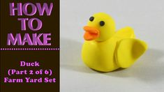 How to Make a DUCK in FARM YARD Set (Part 2) Cake Decoration Topper