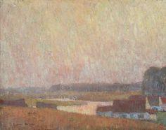 Gustave De Smet (Belgian, 1877-1943), L'heure dorée à Deurle [The golden hour in Deurle], 1906. Canvas, 38 x 48 cm.