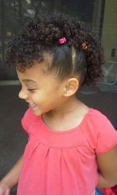 Side Twists With Curls Mixed Babies Hairstyles Mixed