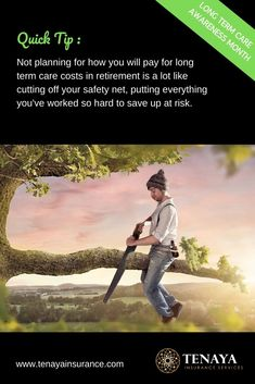 Quick Tip: Long Term Care Safety Net - Financial Management Advice 2020 Retirement Planning, Financial Planning, Insurance Quotes, Life Insurance, Long Term Care Insurance, Money Tips, Personal Finance, Saving Money, Safety