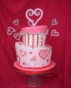 Groovy Valentines Sweets Valentine Cake Valentines Day Cakes Cake Funny Birthday Cards Online Alyptdamsfinfo