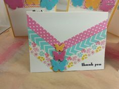 Washi tape card by Dixie Cravens for Scrappin in the City.