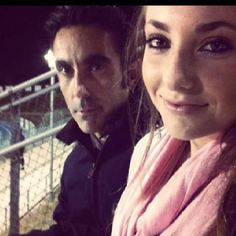 Me and Alexa at a High School football game 2011.