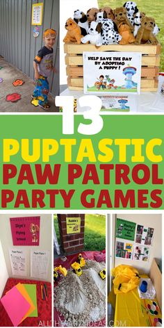 Paw Patrol Party Games, Activities, Crafts, Ideas Image by A. PRINCESS Top Richtlinien game for kids Have all the guests. Birthday Party Games Indoor, Toddler Party Games, Birthday Activities, Boy Birthday Parties, Toddler Birthday Party Games, Kids Party Games Indoor, 3rd Birthday, Women Birthday, Paw Patrol Rocky