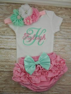Newborn baby girl outfit Baby girl coming home by LittleQTCouture