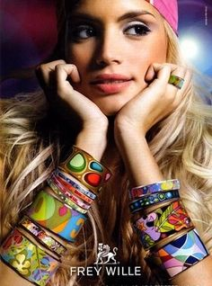Frey Wille Jewelry (est. 1951)-stunning enamel jewelry inspired by the colors and motifs of Mucha, Klimt, Monet, and other great artists.