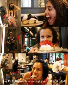 Day 14: FUN! What could be more fun than girls, cake and trying on clothes?! Taken with Cristina and Celia at Simply Life Cafe and H #photoadayMay
