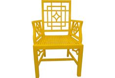 Yellow Lacquer Chinese Chippendale Chair on OneKingsLane.com