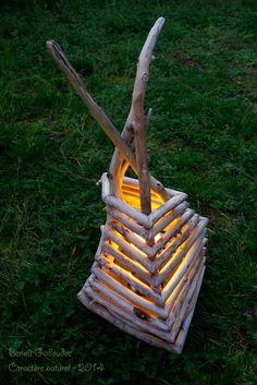 Lampe de chevet en bois flotté édition 2014 - Caracterenaturel.com - Benoît Galloudec