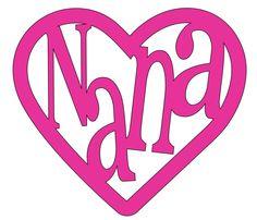 Nana Heart Vinyl Decal by FirstDueInGearLocker on Etsy Cricut Fonts, Cricut Vinyl, Vinyl Decals, Car Decals, Vinyl Art, Cricut Air, Custom Decals, Window Decals, Wall Stickers
