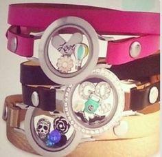 Origami Owl Fall 2014 Leather Wrap Bracelet
