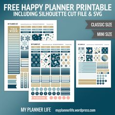 Free Printable Frosty Stockings Planner Stickers From My Planner Life